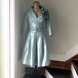 Terri Jon Jacket Dress in Ice Blue Size 2